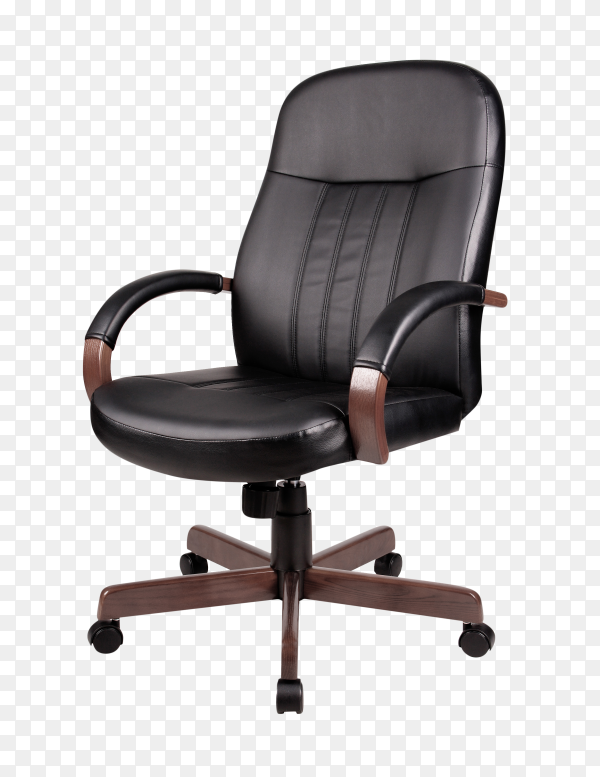 Modern office armchair isolated on transparent background PNG