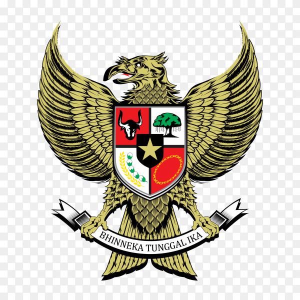 National emblem Indonesia on transparent background PNG