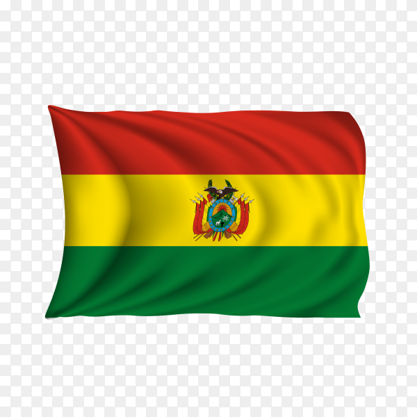 National flag of the Bolivia on transparent background PNG