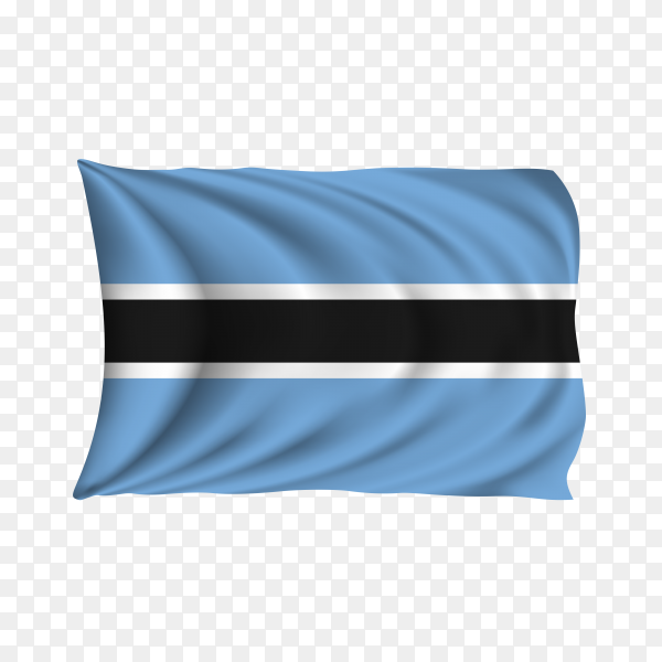 National flag of the Botswana on transparent background PNG