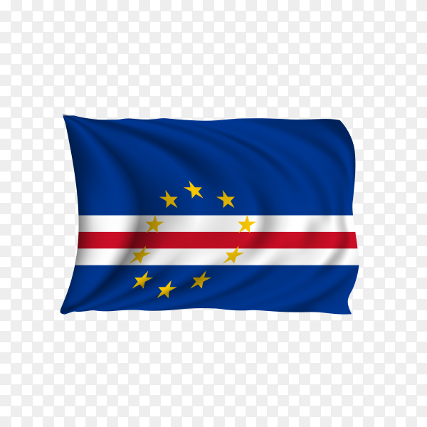 National flag of the Cape Verde on transparent background PNG