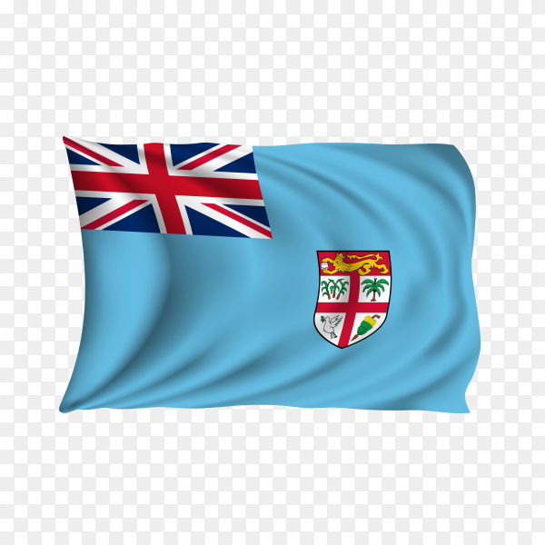 National flag of the Fiji on transparent background PNG