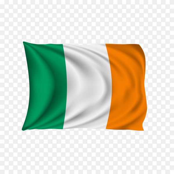 National flag of the Ireland on transparent background PNG