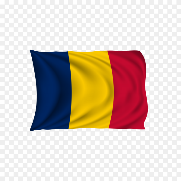 National flag of the chad on transparent background PNG
