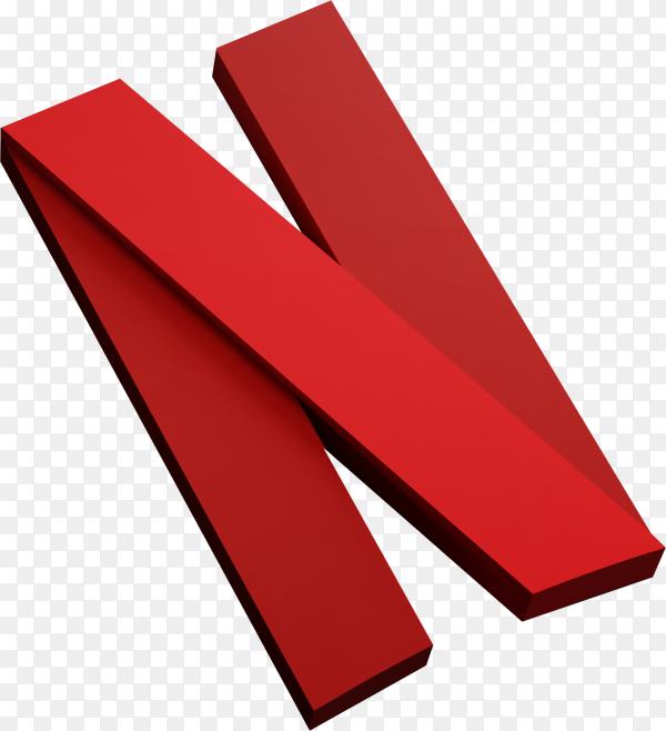 Netflix logo minimal simple design template on transparent background PNG
