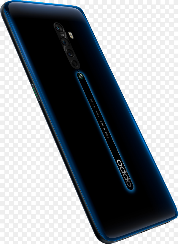 OPPO Reno 2 new smartphone on transparent background PNG