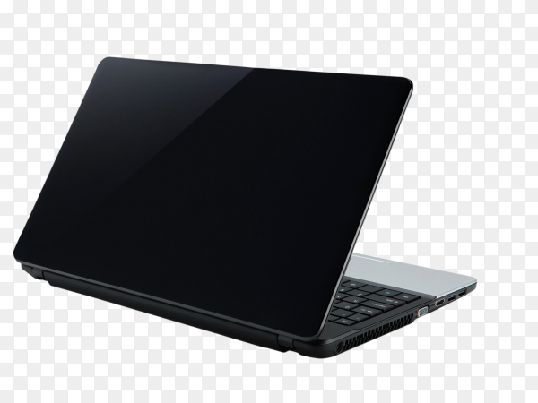 Open laptop device on transparent background PNG