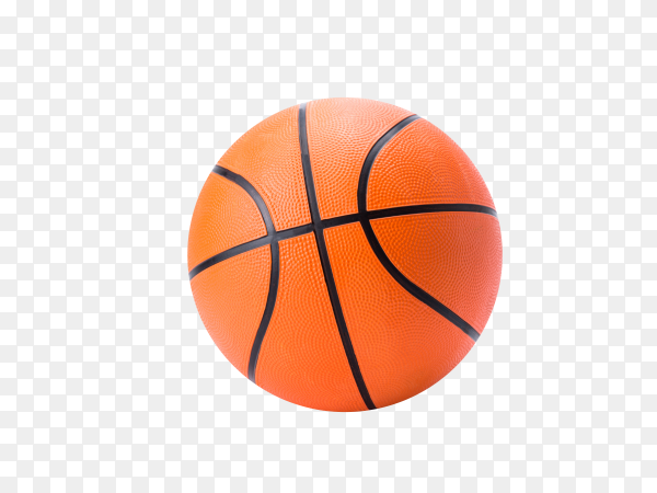 Orange basketball isolated on transparent background PNG