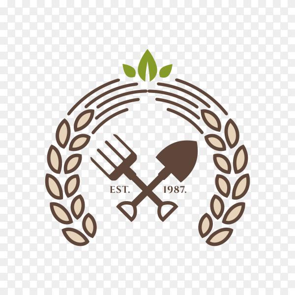 Organic Food Logo Template Design on transparent background PNG