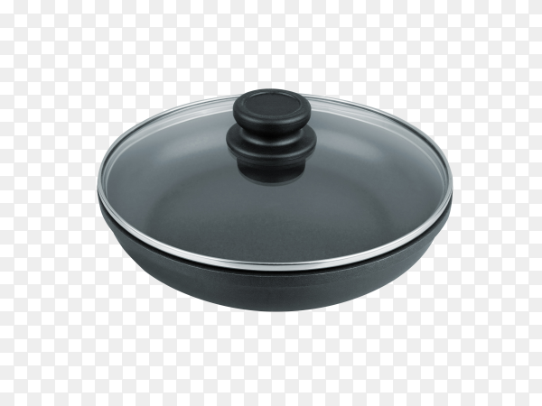 Pan for frying on transparent background PNG