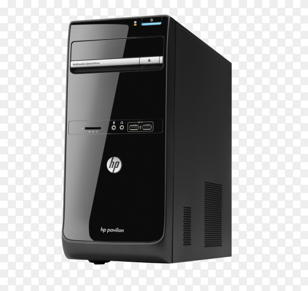 Personal computer isolated on transparent background PNG