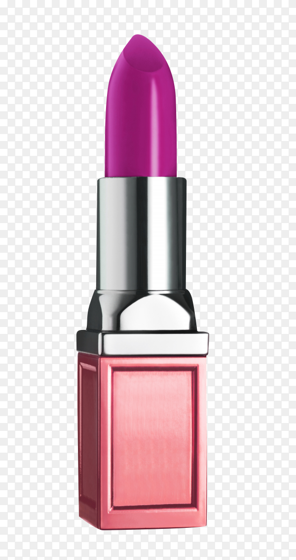 Pink lipstick isolated on transparent background PNG