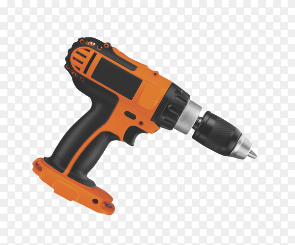 Power drill or screwdriver isolated on transparent background PNG