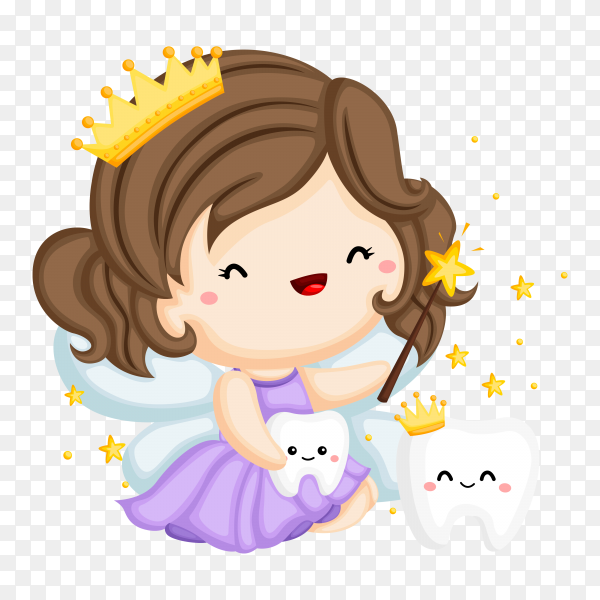 Princess Fairy And Magic Teeth on transparent background PNG