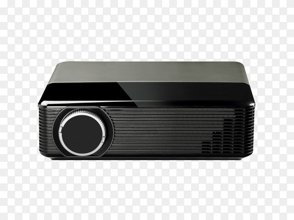 Projector multimedia on transparent background PNG