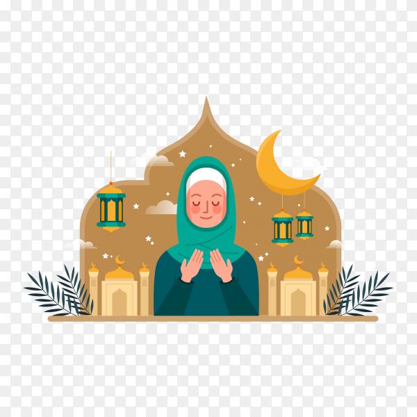 Ramadan Kareem concept on transparent background PNG