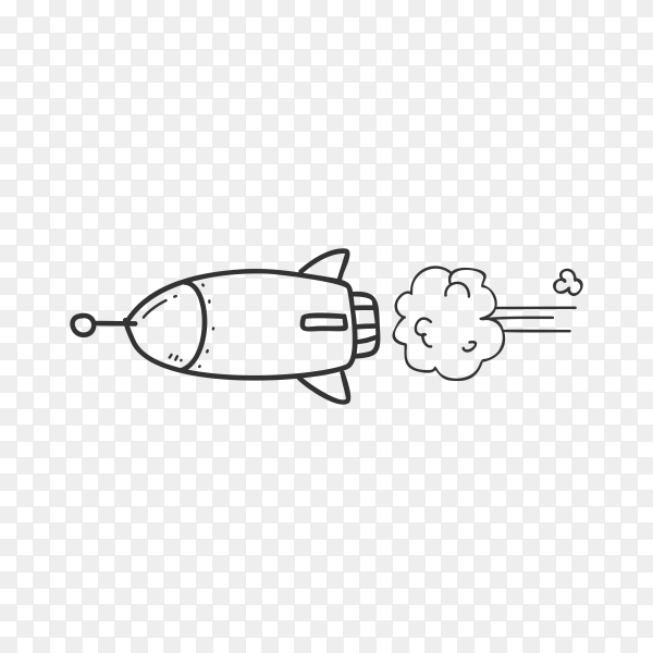 Rocket illustration premium vector PNG