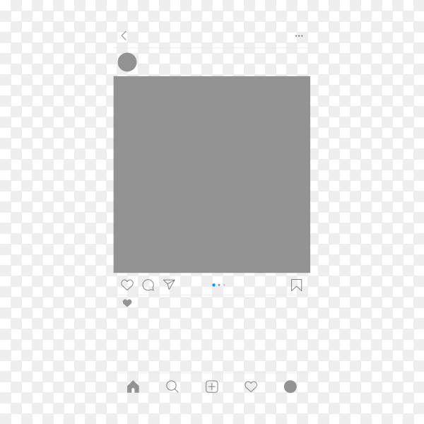 Social media Instagram post template on transparent background PNG