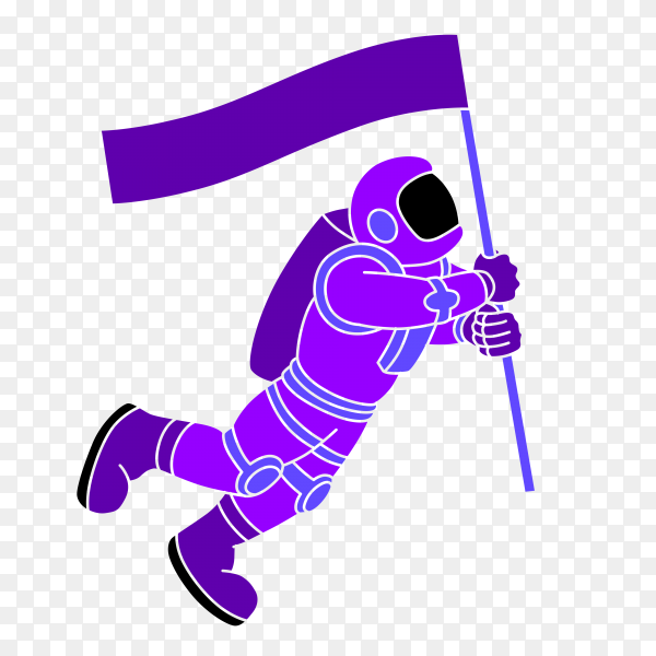 Spaceman icon on transparent background PNG
