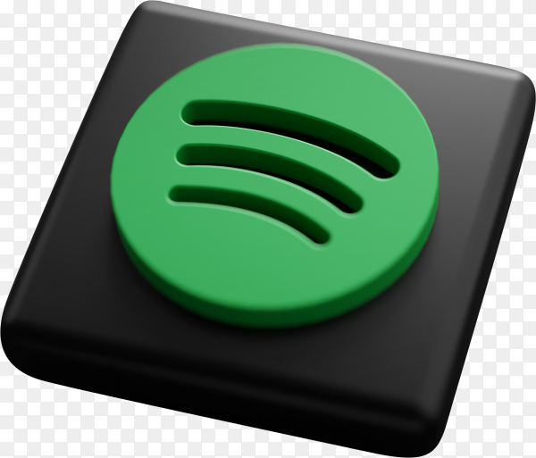 Spotify logo on transparent background PNG