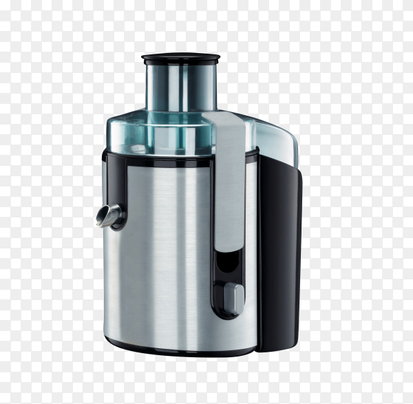 Stainless juice extractor on transparent background PNG