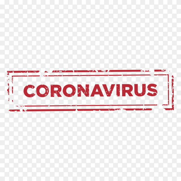 Stop virus infection text stamp template illustration on transparent background PNG