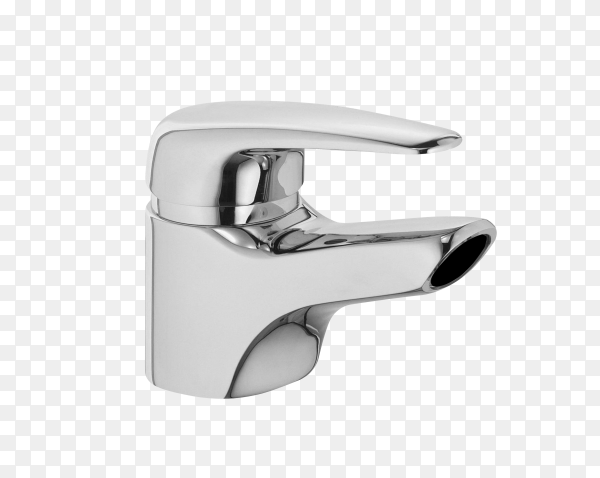 The water tap, faucet for the bathroom and kitchen mixer on transparent background PNG