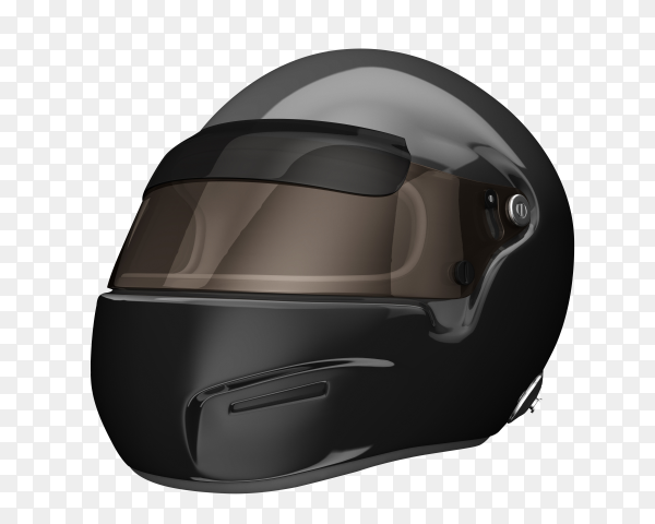 Black protective helmet for skiing, snowboarding and other winter sports front background PNG