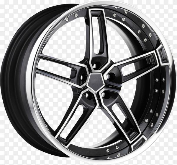 Wheel rim on transparent background PNG