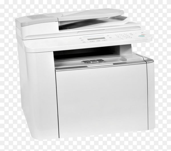 White Printer isolated on transparent background PNG