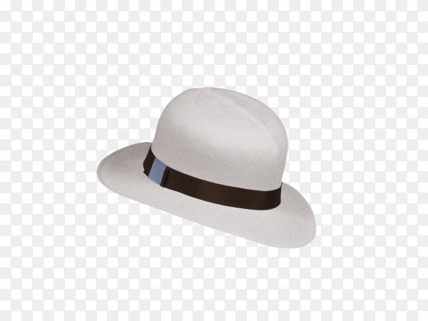 White hat isolated on transparent background PNG