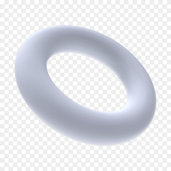 White ring on transparent background PNG