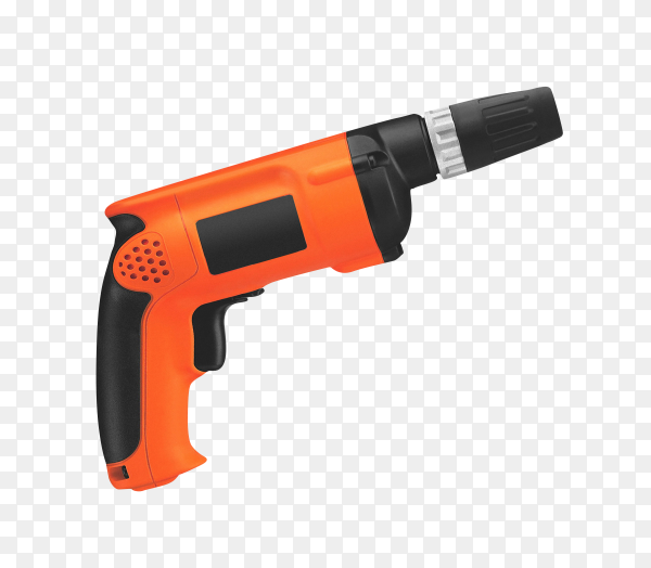 black and orange drill on transparent background PNG