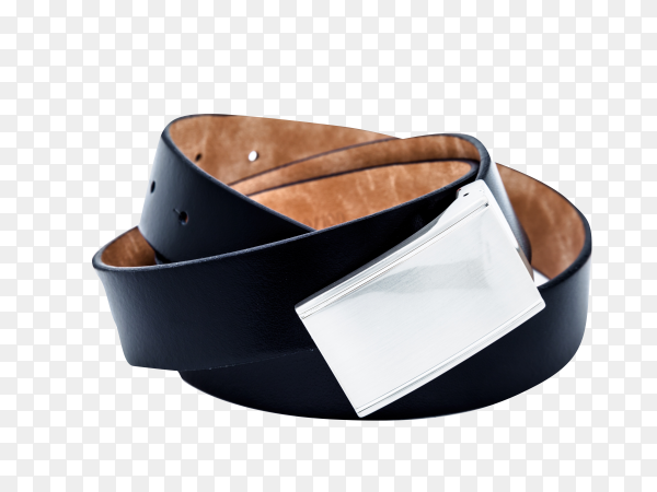 Black belt on transparent background PNG