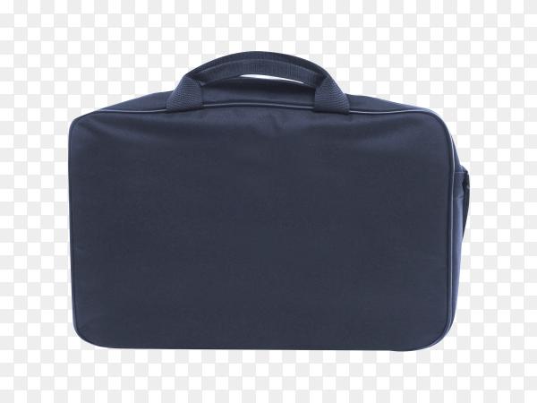 black laptop bag mock-up on transparent background PNG