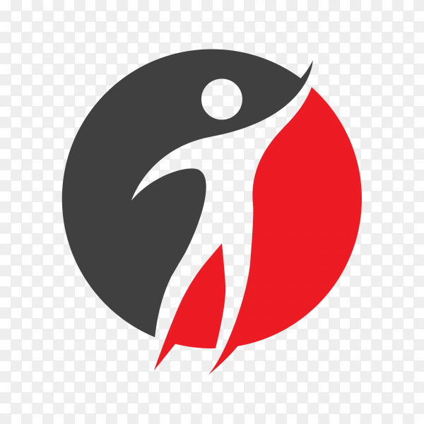 People care success health life logo on transparent background PNG
