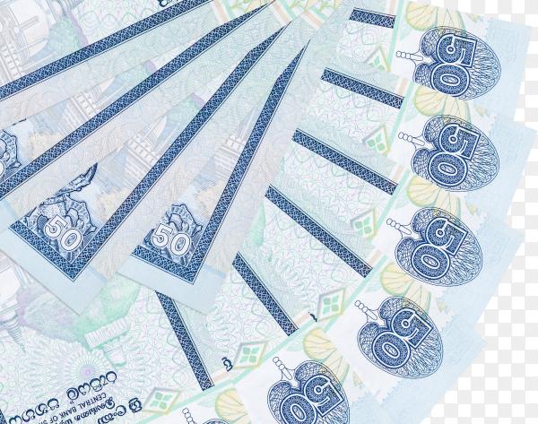srilankan rupees banknote on transparent background PNG