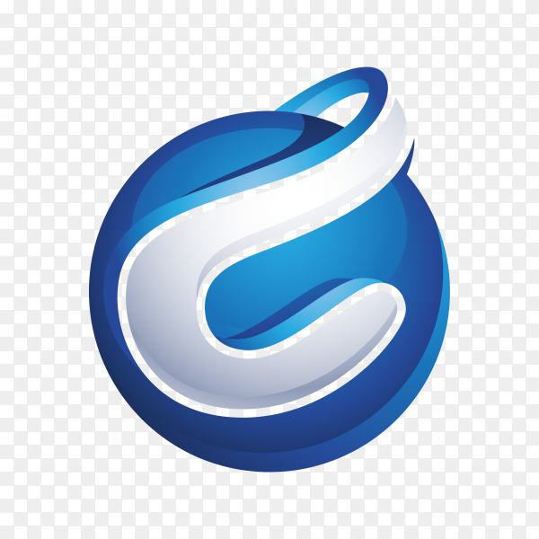 Abstract Letter C Logo on transparent background PNG