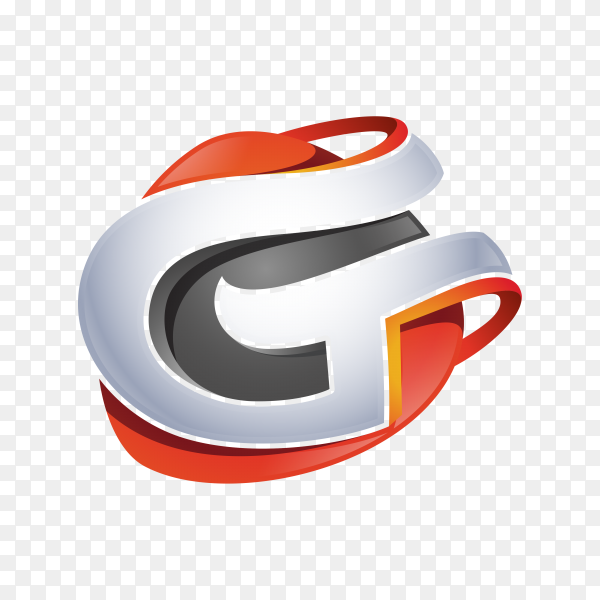 Abstract Letter G Logo on transparent background PNG
