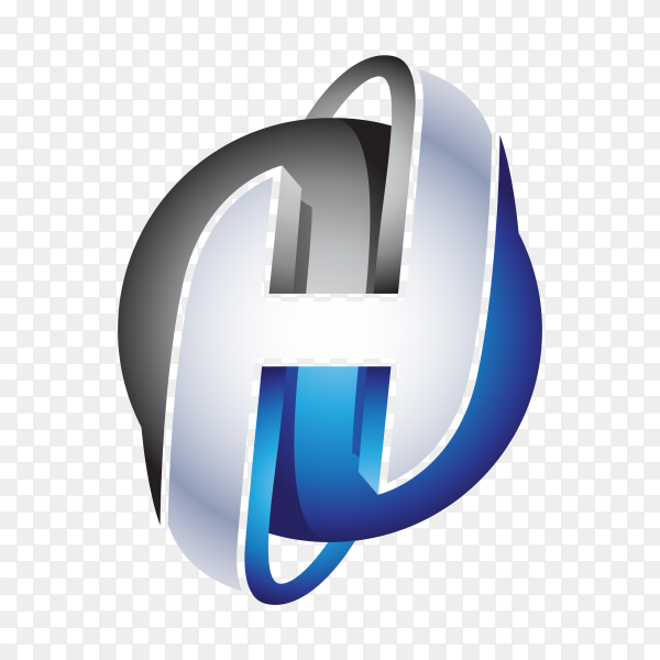 Abstract Letter H Logo isolated on transparent background PNG