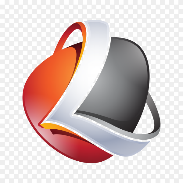 Abstract Letter L Logo on transparent background PNG