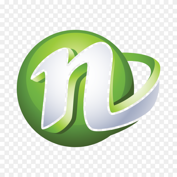 Abstract Letter N Logo on transparent PNG