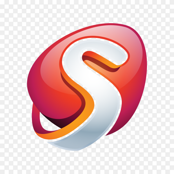 Abstract Letter S Logo on transparent background PNG