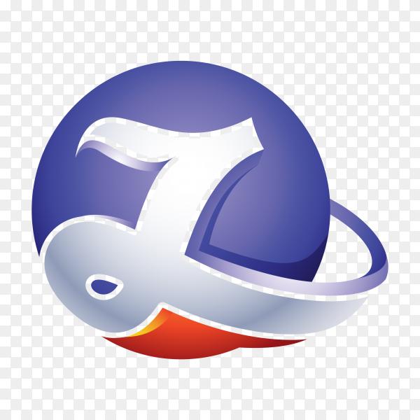 Abstract Letter Z Logo – 3D Sphere Logo premium vector PNG