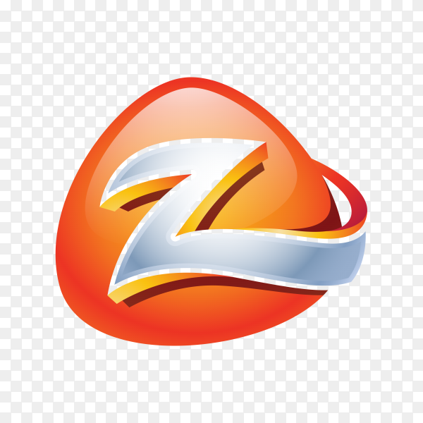 Abstract Letter Z Logo on transparent background PNG