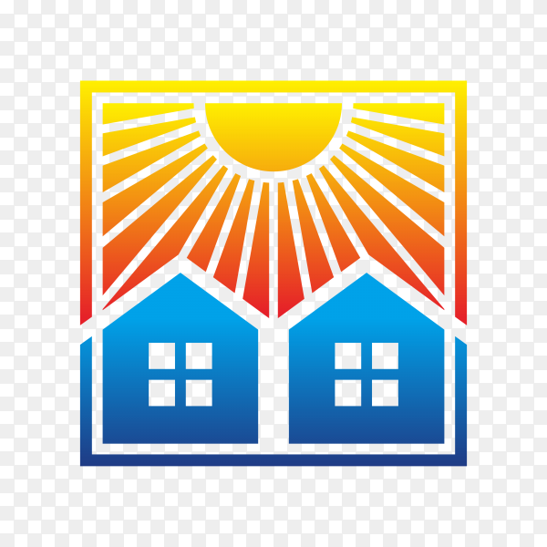 Abstract solar energy logo design premium vector PNG