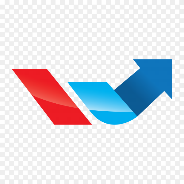 Arrow finance logo on transparent background PNG
