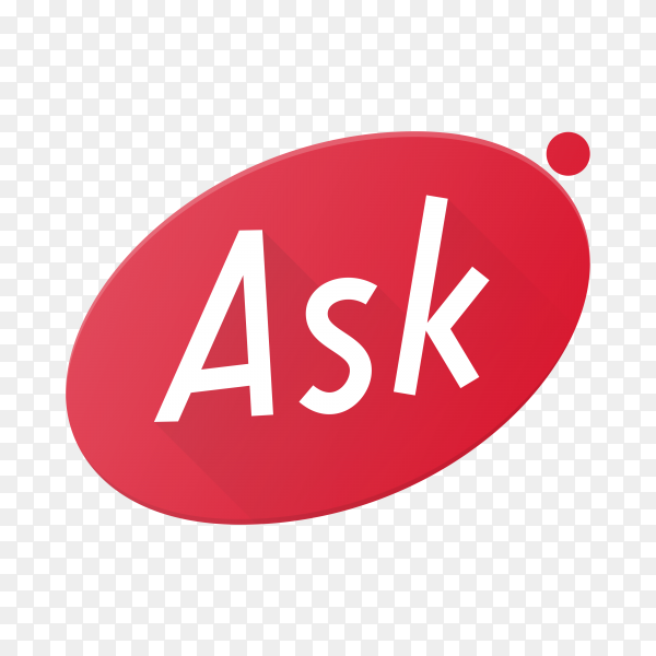 Ask icon logo isolated on transparent background PNG