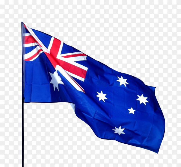 Australian flag on transparent background PNG