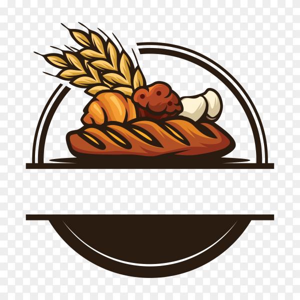 Bakery logo on transparent background PNG
